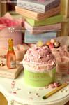 Miniature Pink Wedding Cake