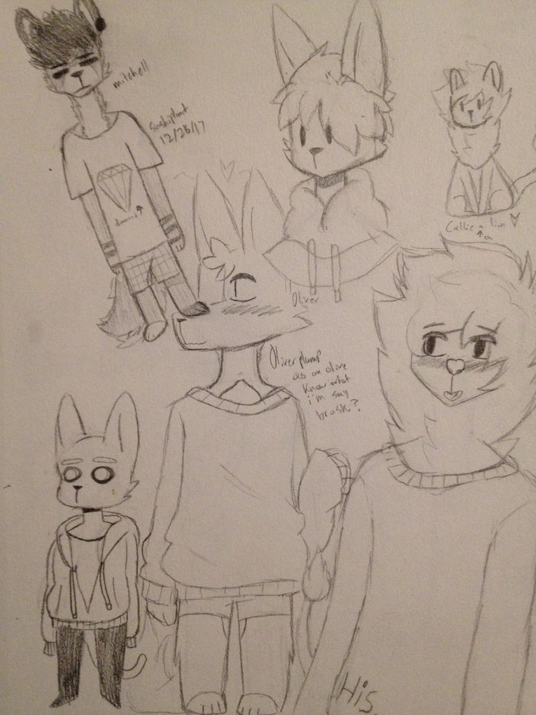 sketch page by pillwprince