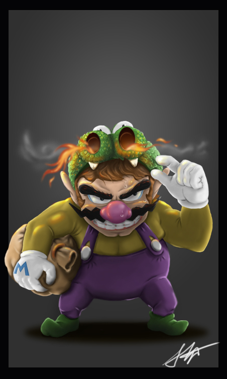 Dragon Wario by Littl-Big-Kahuna