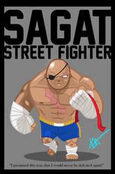 Sagat - King of Muay Thai by Littl-Big-Kahuna