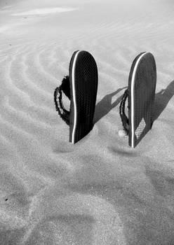 Sandals in the beach