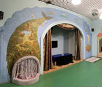 wall painting whale