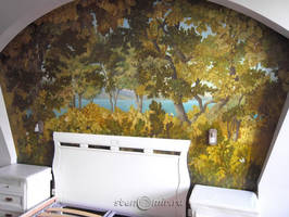 painting wall trees by Denkiko