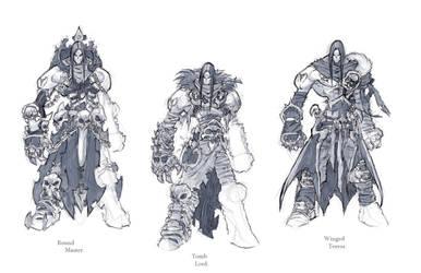 Darksiders II armour concepts Necromancer by DawidFrederik