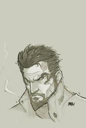Adam Jensen Bust sketch