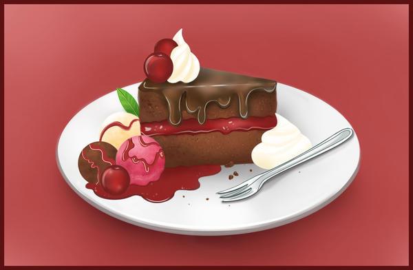 Cherry Chocolate Cake by Paulis1tp