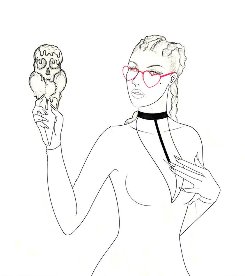 Ice cream girl by Paulis1tp