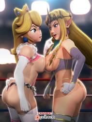 3D Zelda vs Peach I by crisisbeat83