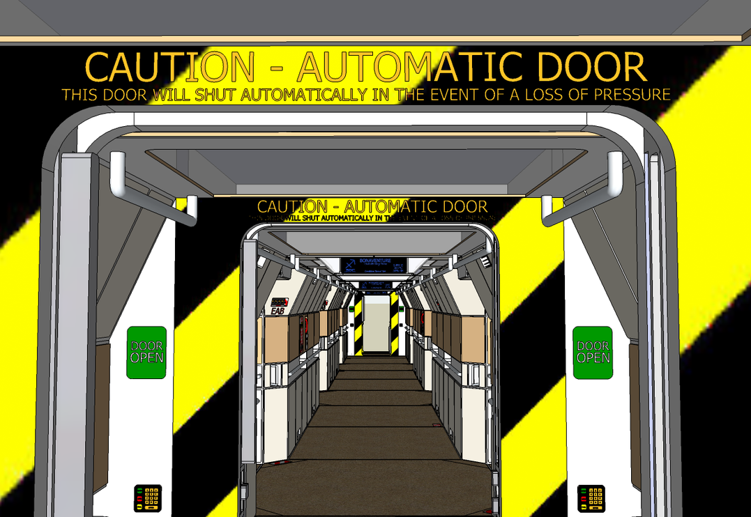 Caution automatic door by reactor axe man on deviantart