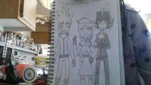Furry Shadow, Silver and Tsuki by YumiTsukiyoru