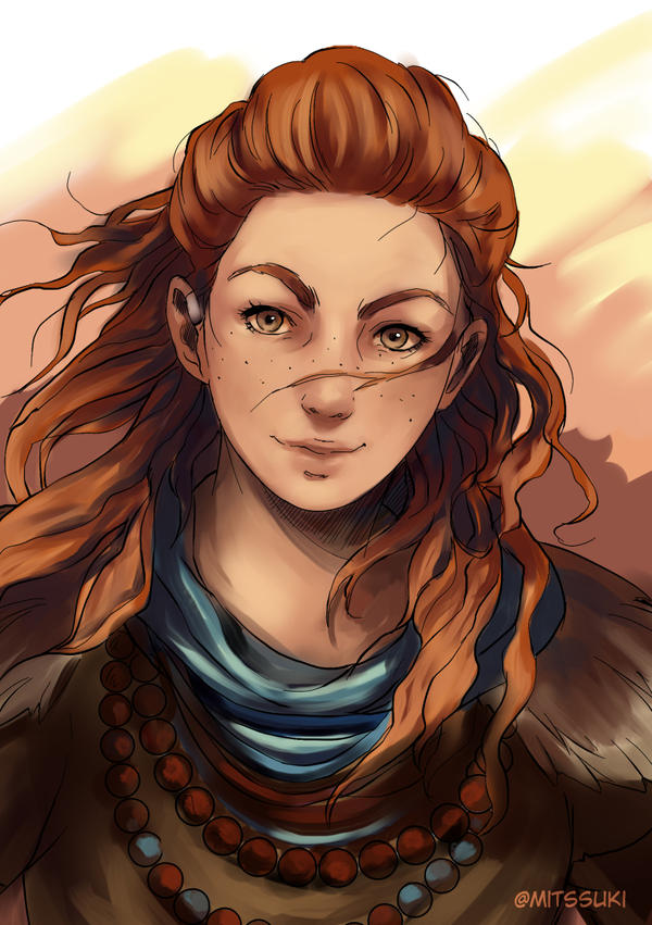 Portret Aloy., wallpaper from Horizon Zero Dawn - gamepressure.com