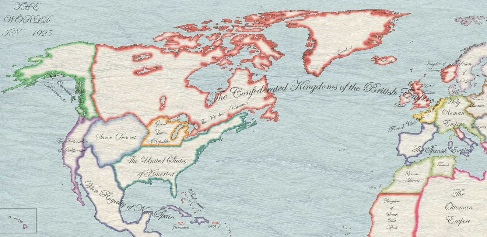 Alternate us map