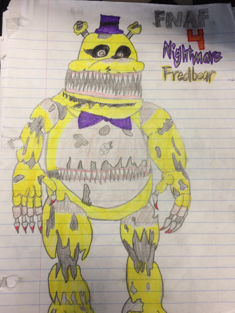 Nightmare Fredbear FNAF4 by Dragonoisus