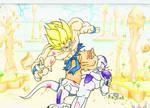 SSJ Goku Vs Freizer