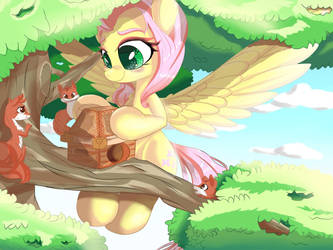 Humble Fluttershy by VELCIUS