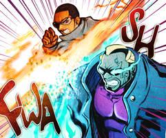 MR INCREDIBLE FIGHT SCENE by Rikyo