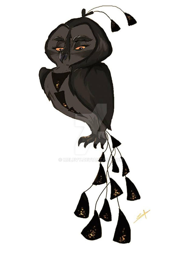 Black bird by Melevy
