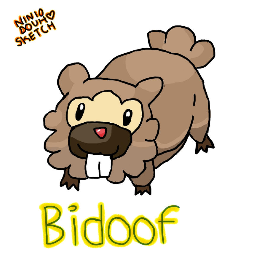 Bidoof by Eridan-Swwag on DeviantArt