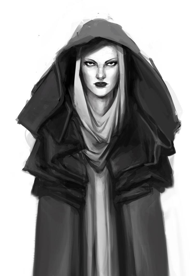 hooded woman by soyabeansoldier