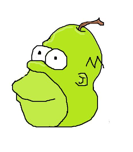 Homer pear by ghostlyman123