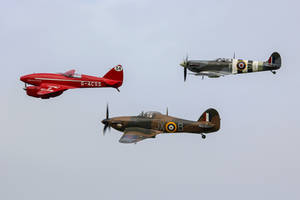 Comet, Spitfire and Hurricane by Daniel-Wales-Images