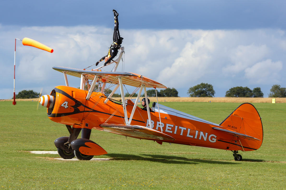 Wingwalking just isn't exciting enough... by Daniel-Wales-Images