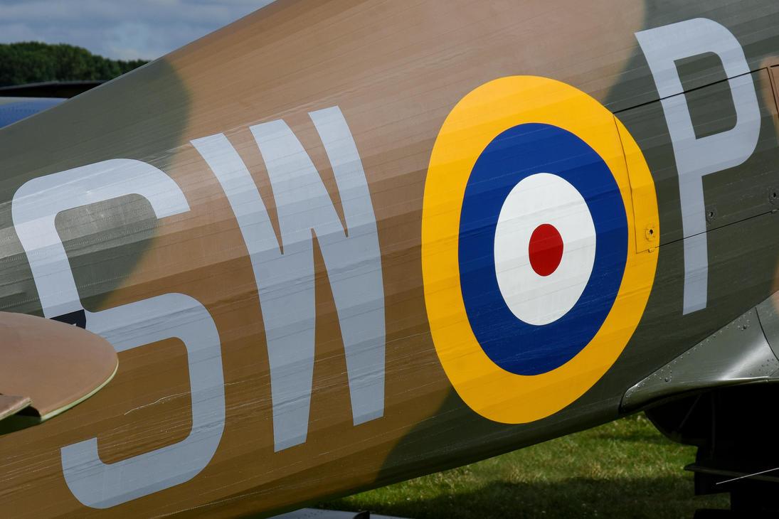 Hurricane P3717 Squadron Codes by Daniel-Wales-Images
