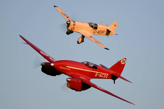 de Havilland DH.88 Comet and Percival Mew Gull