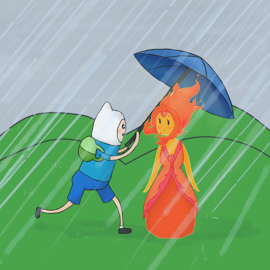 adventure time flame princess and finn by abbic314 on