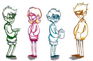 Homestuck Doodles - More Cuties in Hoodies by abbic314