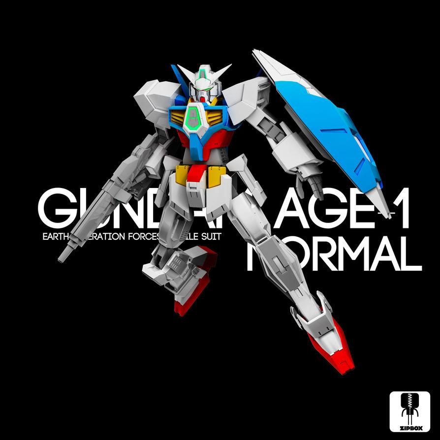 Gundam AGE-1 Normal by zipbox