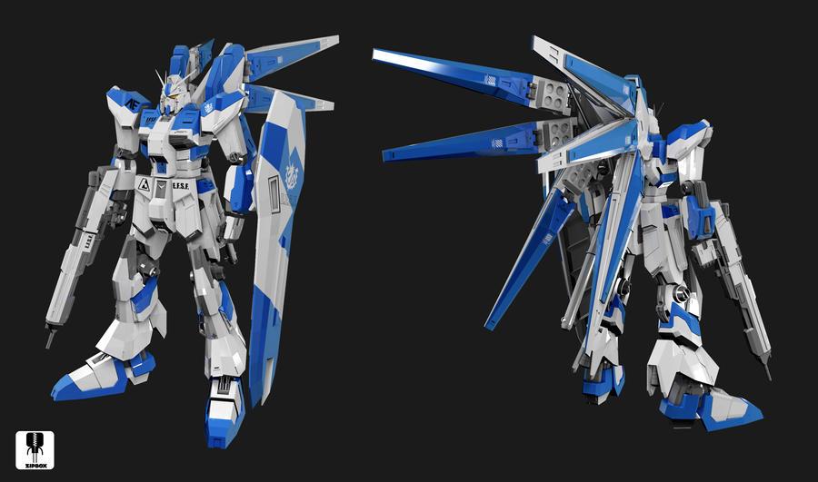 Rx-93 V2 Hi-nu Gundam by zipbox
