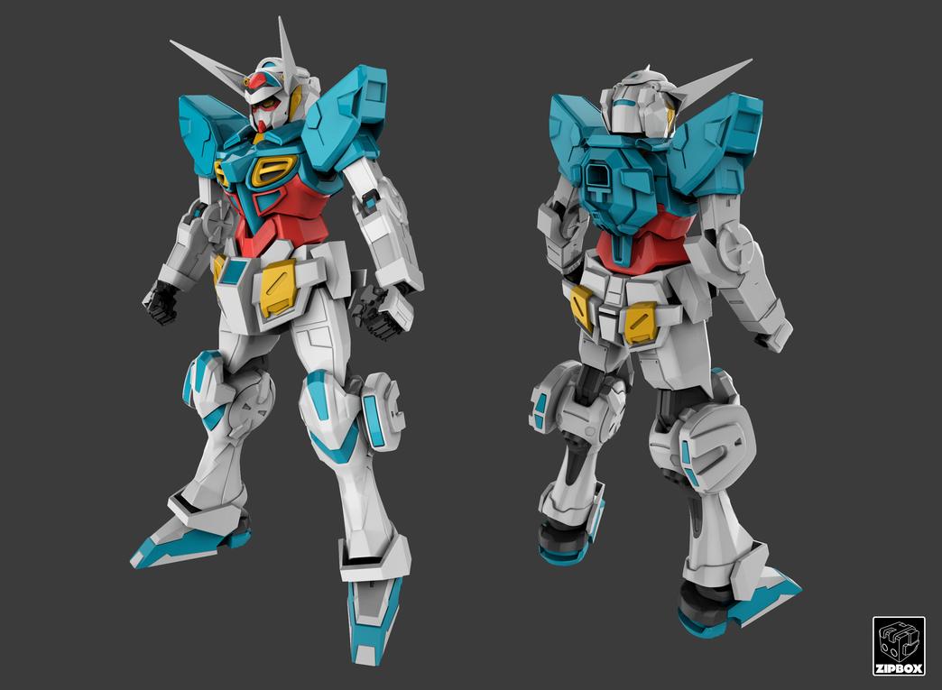 Gundam G-Self (WIP) by zipbox