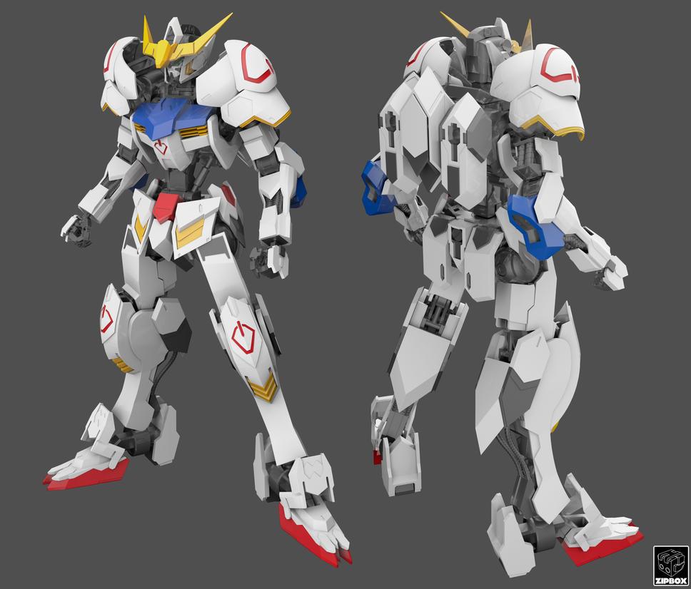 ASW-G-08 Gundam Barbatos WIP by zipbox