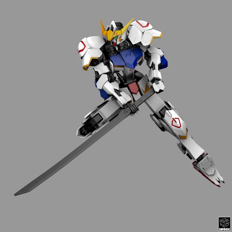 ASW-G-08 Gundam Barbatos by zipbox