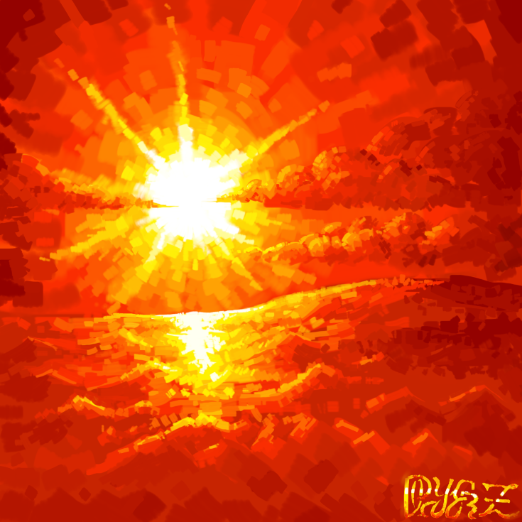 Sunset brush clouds by PlayerZed