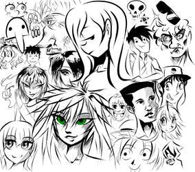 Line Art Drawings by PlayerZed