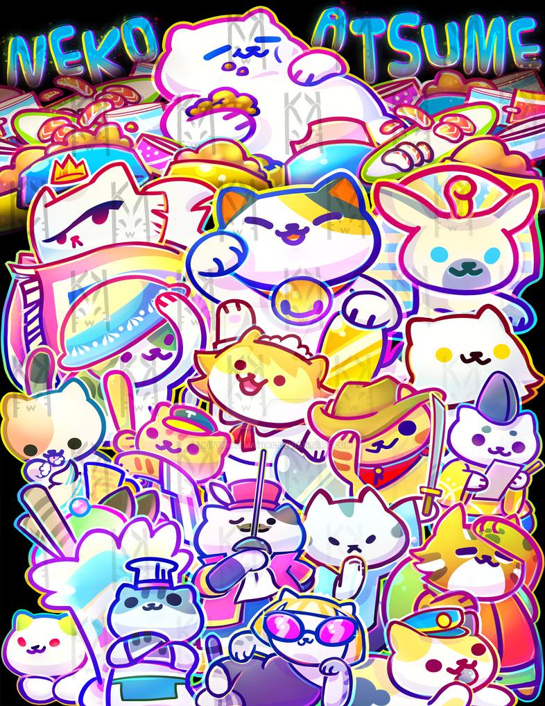 Neko Atsume by kittykatmaniac on DeviantArt