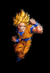 Goku Ssj 2 RENDER by ProjectsAlex