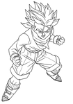 TrunksGT Lineart