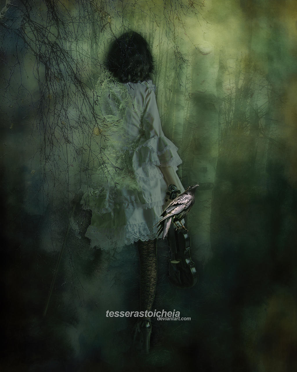 Scream In The Birch Forest