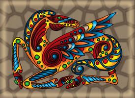 Scythean-Celtic winged horse by Gerie-Aren