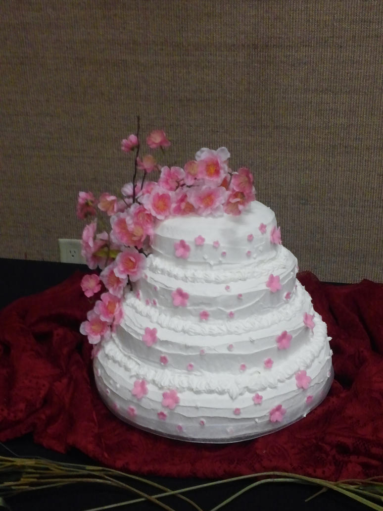 Sakura Wedding Cake by Gollumina