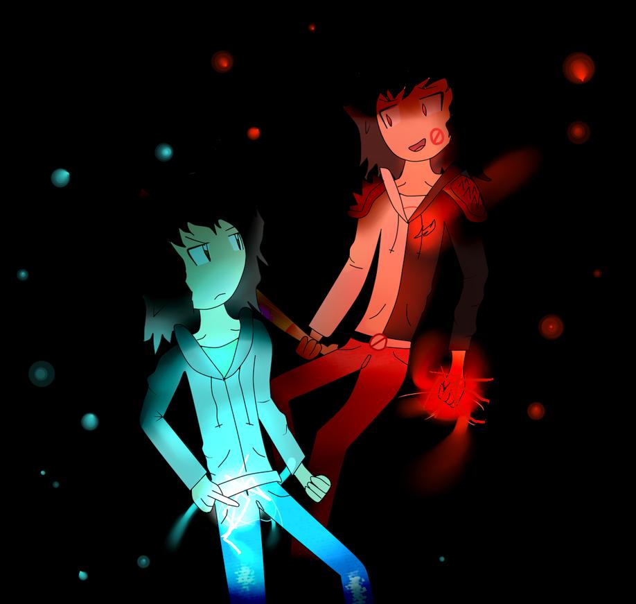 Mark(s): Blue vs. Red by Nukealias2