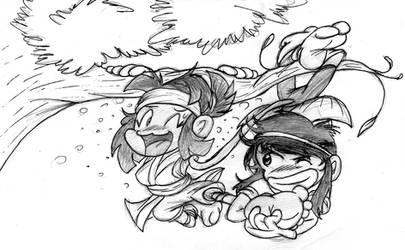 Ninjas Monkeying Around by RalfTheRalfMan