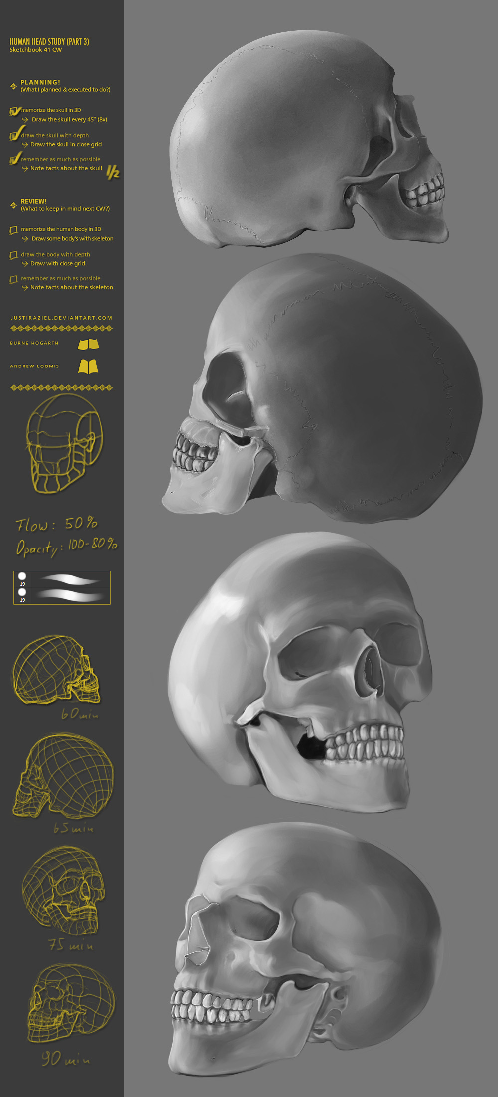 Human Head Study (part3)  41CW by JustIRaziel