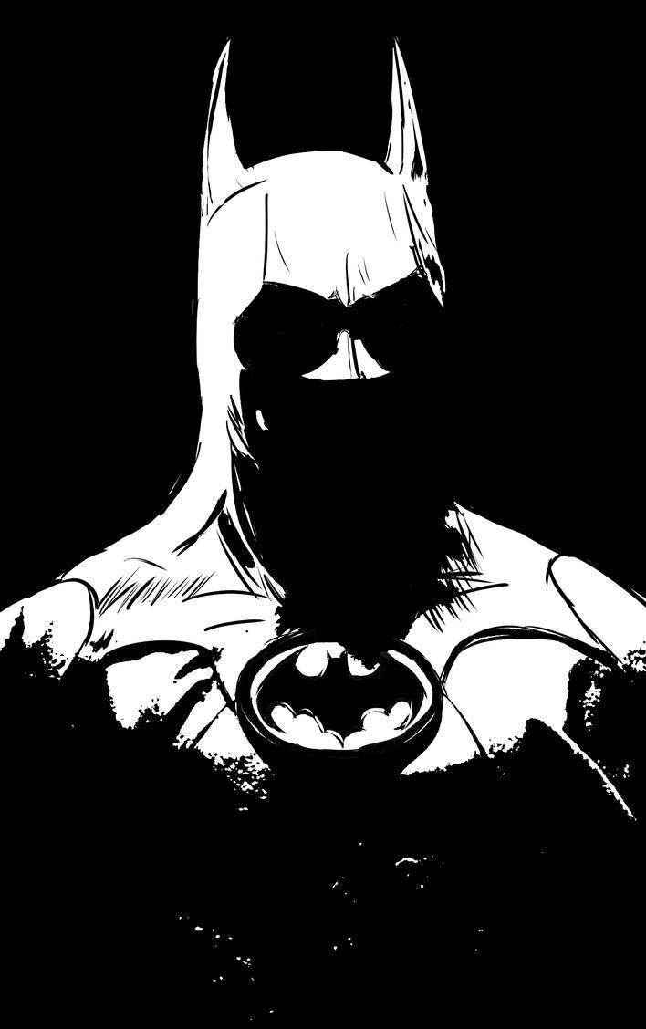 Batman Black And White By Darranged