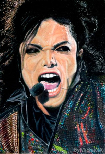 Michael Jackson color pencil by byMichaelX