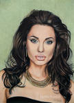Drawing Angelina Jolie color pencil by byMichaelX