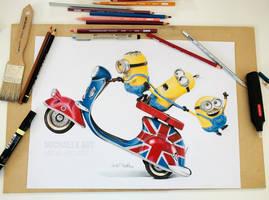 Minions - color pencils